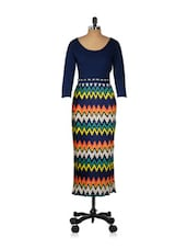 Pleated Colourful Maxi Dress - CHERYMOYA