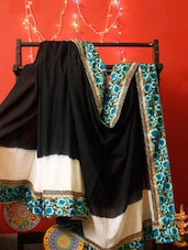 Black And White Chanderi Saree With Zari - RiniSeal