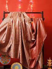 Red And Rust Bhagalpuri Silk Saree - RiniSeal