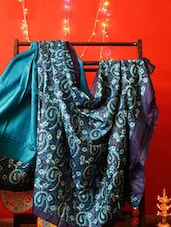 Tussar Silk Blue Saree - RiniSeal