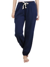 Cropped navy blue pajamas -  online shopping for Track pants