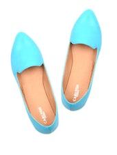 Plain Turquoise Loafers - Carlton London