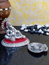 Auspicious Lord Ganesha Idol Along With Incense Sticks Holder - ECraftIndia
