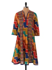 Multi-coloured Printed Kurta - Cotton Curio