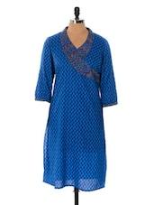 Blue Printed Kurta - Cotton Curio