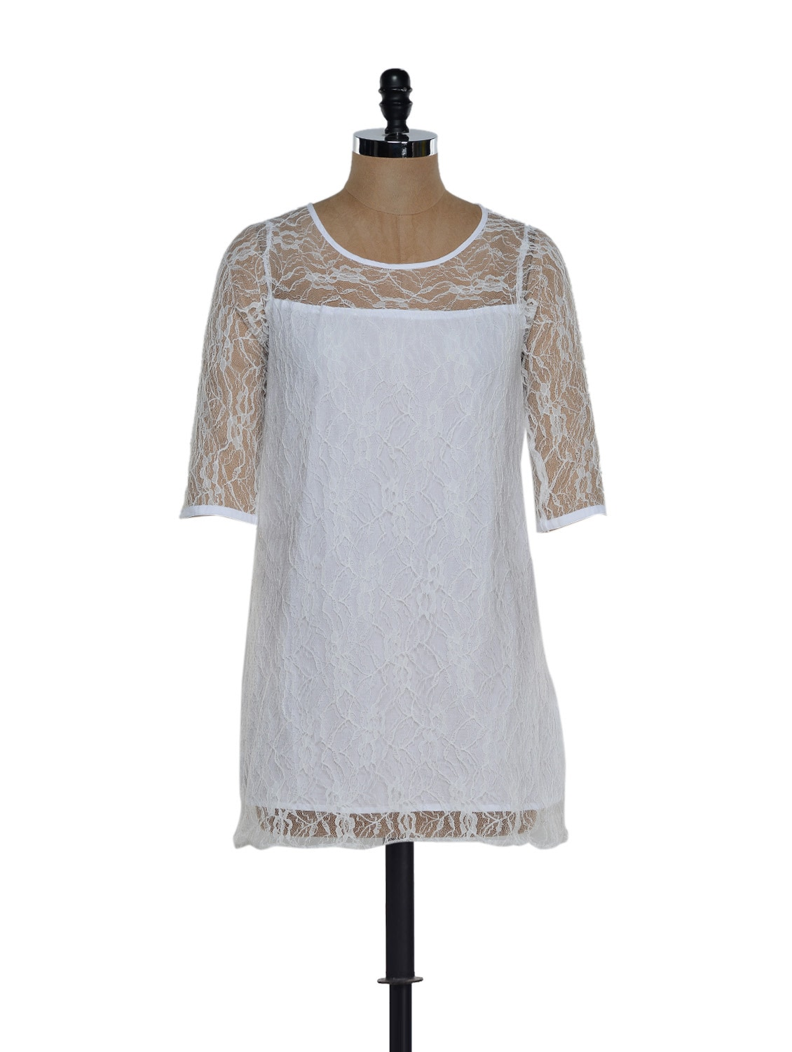 White Lace Dress - Eavan