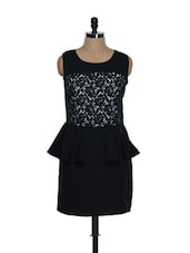 Black Lacy Peplum Dress - Eavan