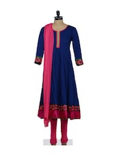 Ready Made Churidar, Kameez Dupatta Set - Span