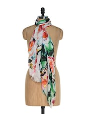 Multi Coloured Trendy Scarf With Digital Prints - Toscee