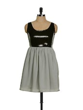 Grey And Black Sequined Dress - Guster Ve..