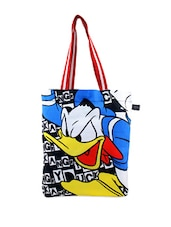 Multi-coloured Angry Donald Duck Print Tote Bag - Be... For Bag