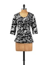 Black And White Quirky Top - Vani
