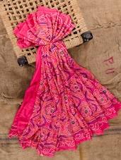 Pink Georgette Printed Saree - Jaipurkurti.com