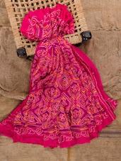 Fuchsia Georgette Printed Saree - Jaipurkurti.com