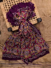 Violet Georgette Printed Saree - Jaipurkurti.com