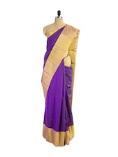 Beautifully Woven Purple Silk Saree - Pothys