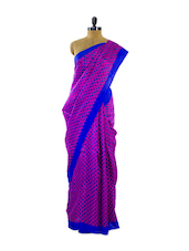 Gorgeous Printed Pink Silk Saree - Pothys