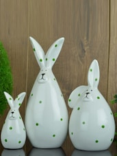 Charming Rabbit Figurine (Set Of 3) - Importwala