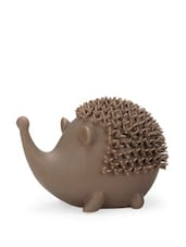 Ceramic Brown Hedgehog Décor Piece - Importwala