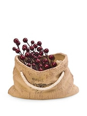 Brown Ceramic Sack Basket - Importwala
