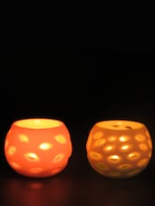 Lasercut Tealight Holder (Set Of 2) - Importwala