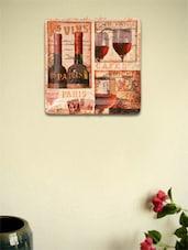 Parissiene Wine Ceramic Wall Plate - Importwala