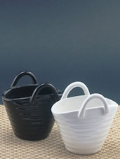Cute Ceramic Baskets  (set Of 2) - Importwala