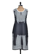 Black And White Printed Kurti - Lalana