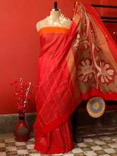 Classy Red Motka Silk Saree - Cotton Koleksi