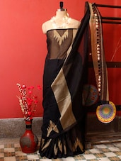 Black And Gold Resham Saree - Cotton Koleksi