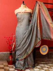 Melange Grey Resham Saree - Cotton Koleksi