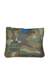 Green Army Prints Large Pouch - HARP