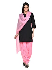 Baby Pink Patiala Salwar With Dupatta Set - Stylenmart