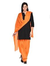 Orange Patiala Salwar With Dupatta Set - Stylenmart