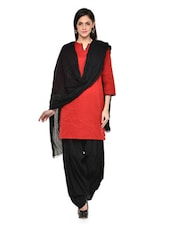 Black Patiala Salwar With Dupatta Set - Stylenmart