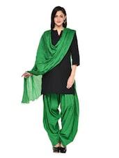 Green Patiala Salwar With Dupatta Set - Stylenmart