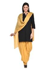 Pale Yellow Patiala Salwar With Dupatta Set - Stylenmart