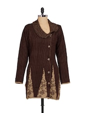Brown Knitted Winter Coat - Madrona