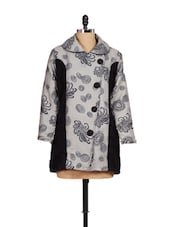 Trendy Grey And Black Coat - Madrona