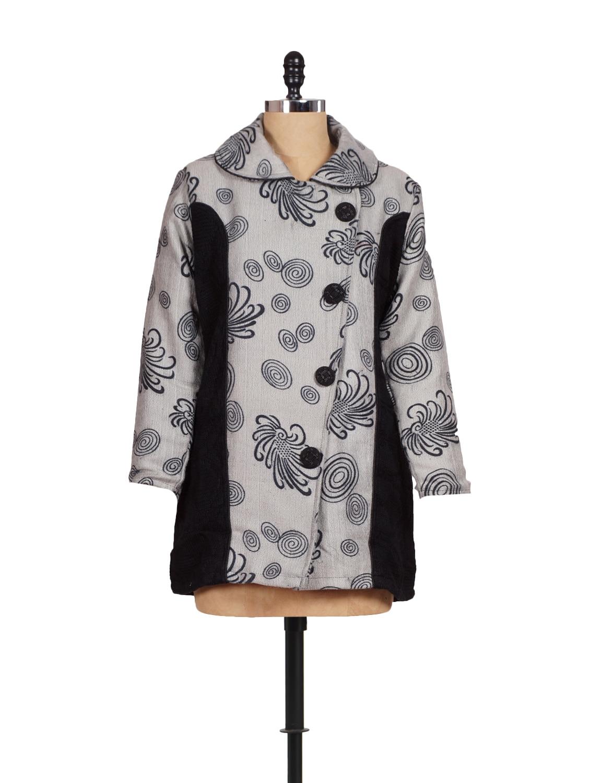 Trendy Grey And Black Coat - Madrona