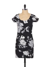 Black And Grey Floral Dress - SPECIES