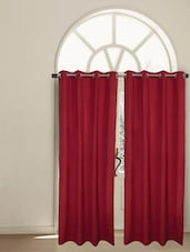 Brick Red Cotton Window Curtain - HOUSE THIS