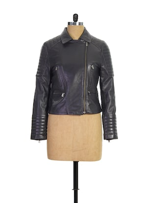 Black Biker Jacket -  online shopping for jackets