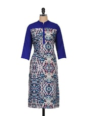 Blue Printed Full-sleeved Kurta - Meira