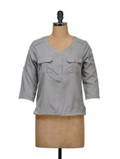 Grey Full-sleeved Top - Meira