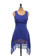 Blue Asymmetrical Dress - Schwof