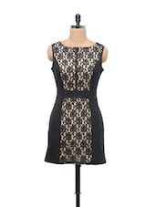 Black Lace Panel Dress - Schwof