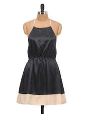 Black Dress With Cream Hem - Schwof