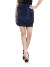 Haute Navy Blue Bow Skirt - Schwof