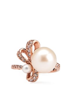Pink Pearl And Sterling Silver Ring - Tanya Rossi, Italy